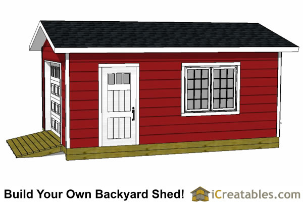 12x20 garage plan right side view