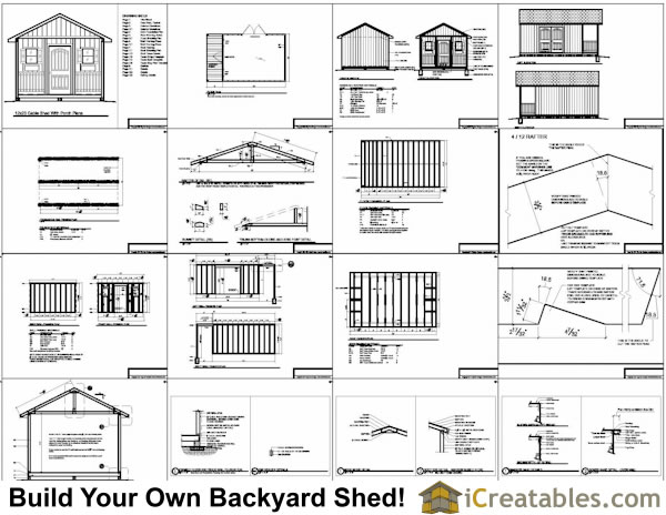 12x20 Shed Plans with porch