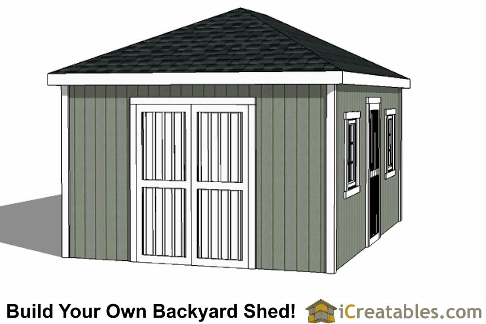 12x16 cape cod style shed left elevations