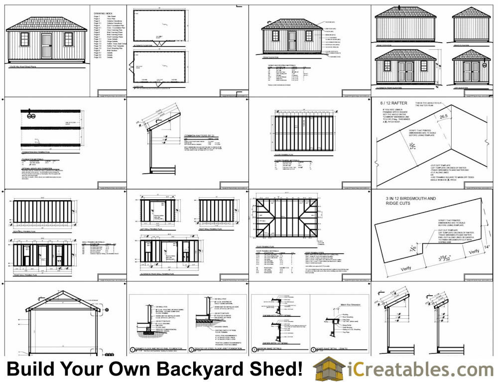 12x20 Hip Roof Shed Plans Example