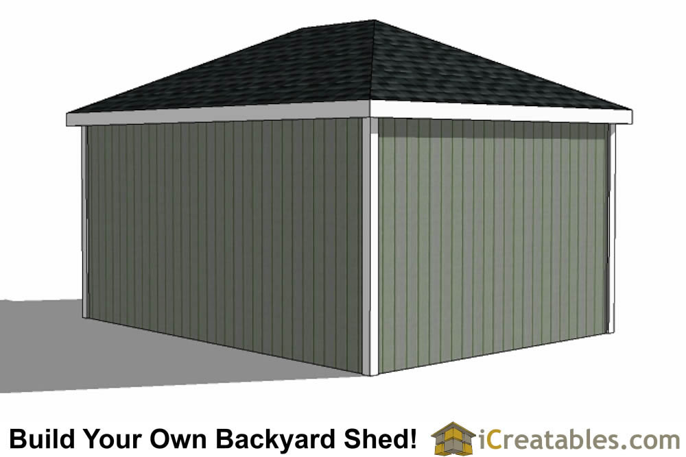 12x20 Hip Roof Shed Plans