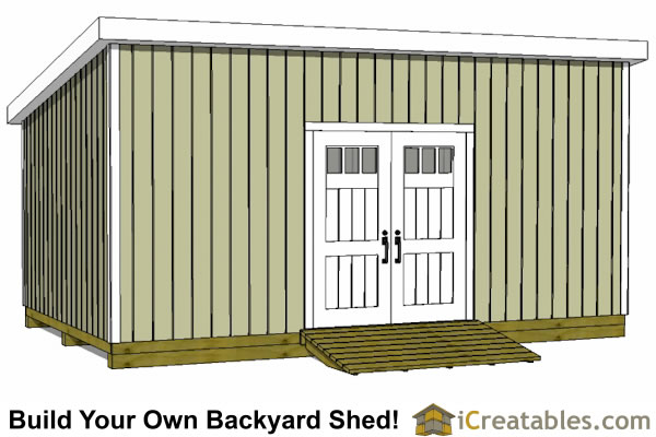 12x20 Lean To Shed Plans | Build a Large Lean To Shed