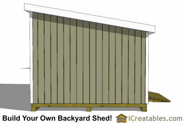 12x20 lean to shed plans end elevation