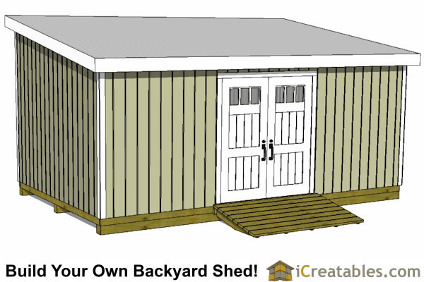 how to build a 12x16 lean to shed