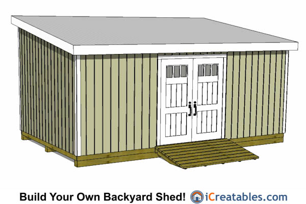 10 X 24 Lean To Storage Shed Plans