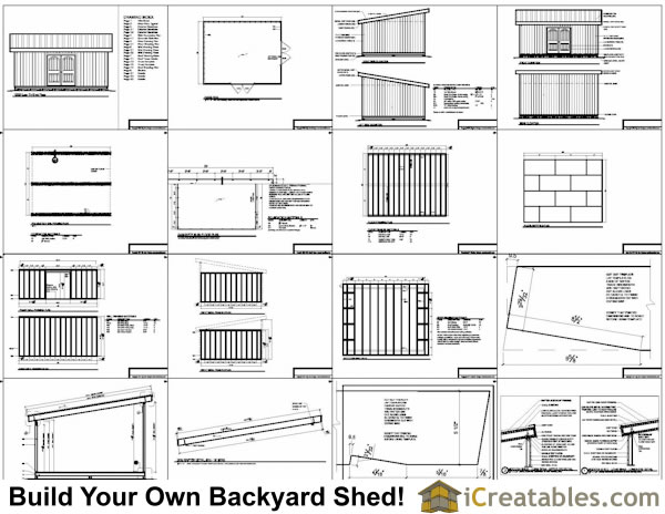 12x16 lean to shed plans example