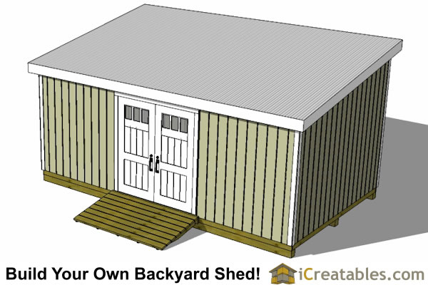 12x20 lean to shed plans top view