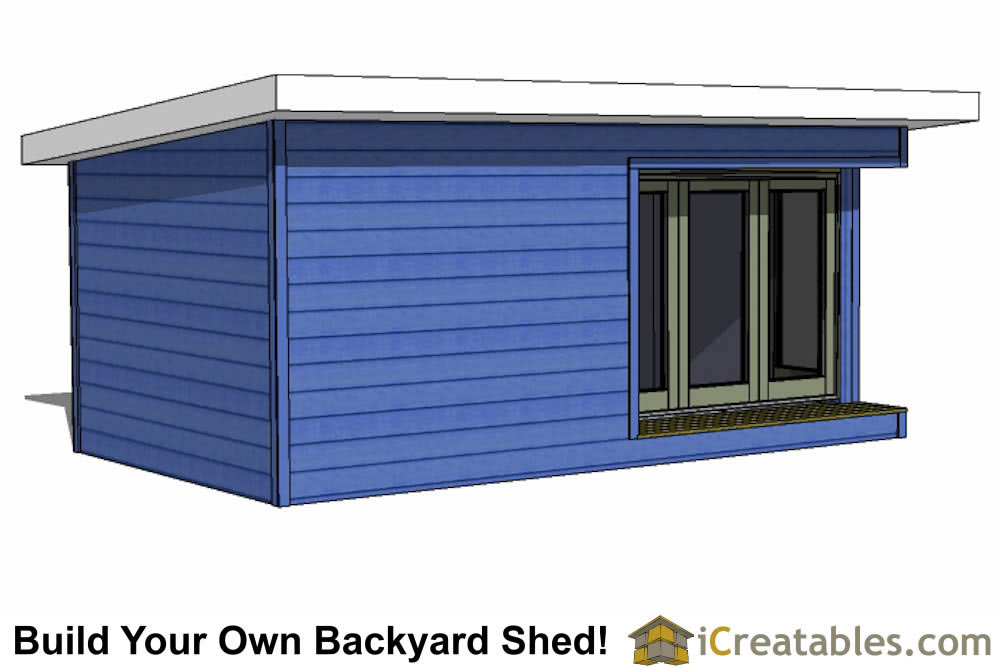 12x20 Modern Shed Plans Build Your Backyard Office Space