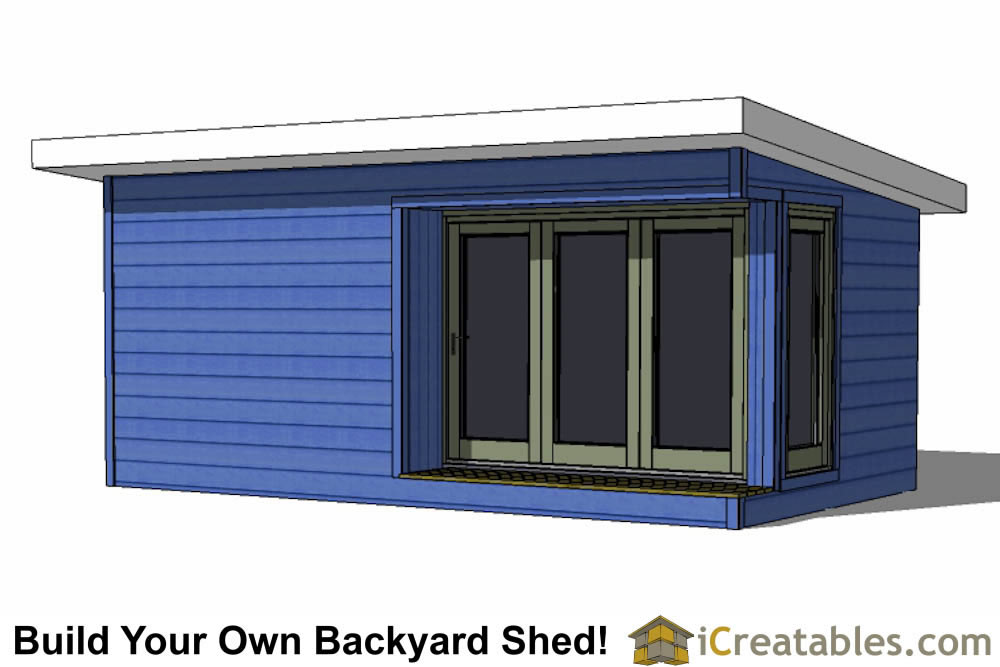 12x20 modern shed plans build your backyard office space for Modern shed cost