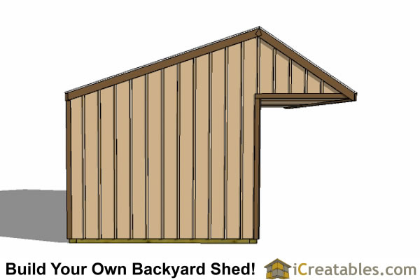 12x20 run in shed end