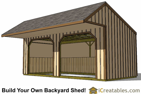 12x20 Run In Shed Plans With Cantilever