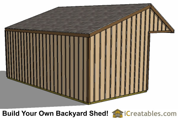 12x20 run in shed rear