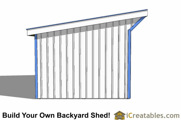 12x20 run in shed end view
