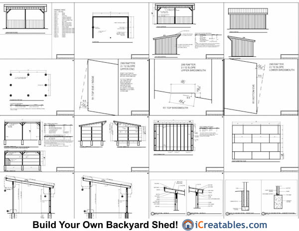 12x20 run in shed plans