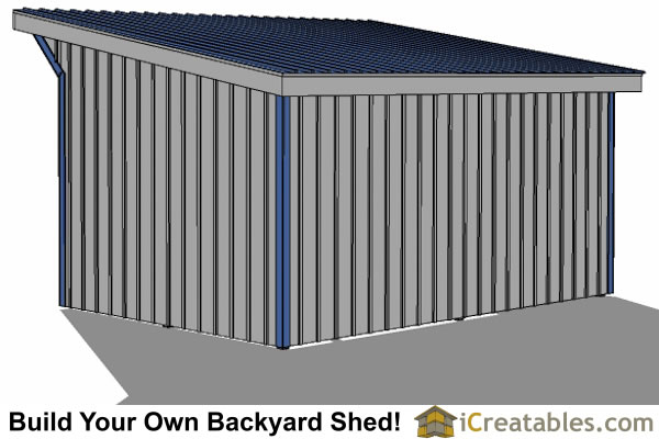 12x20 run in shed right rear view