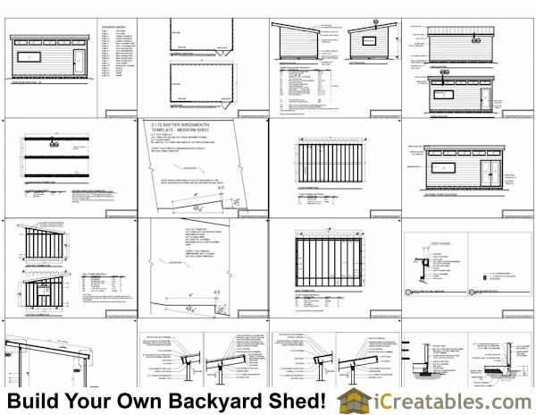 12x20 Modern Shed Plans Specifications Overview