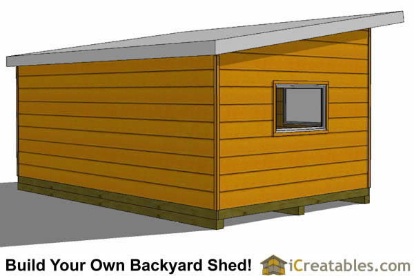 12x20 modern studio office shed plan