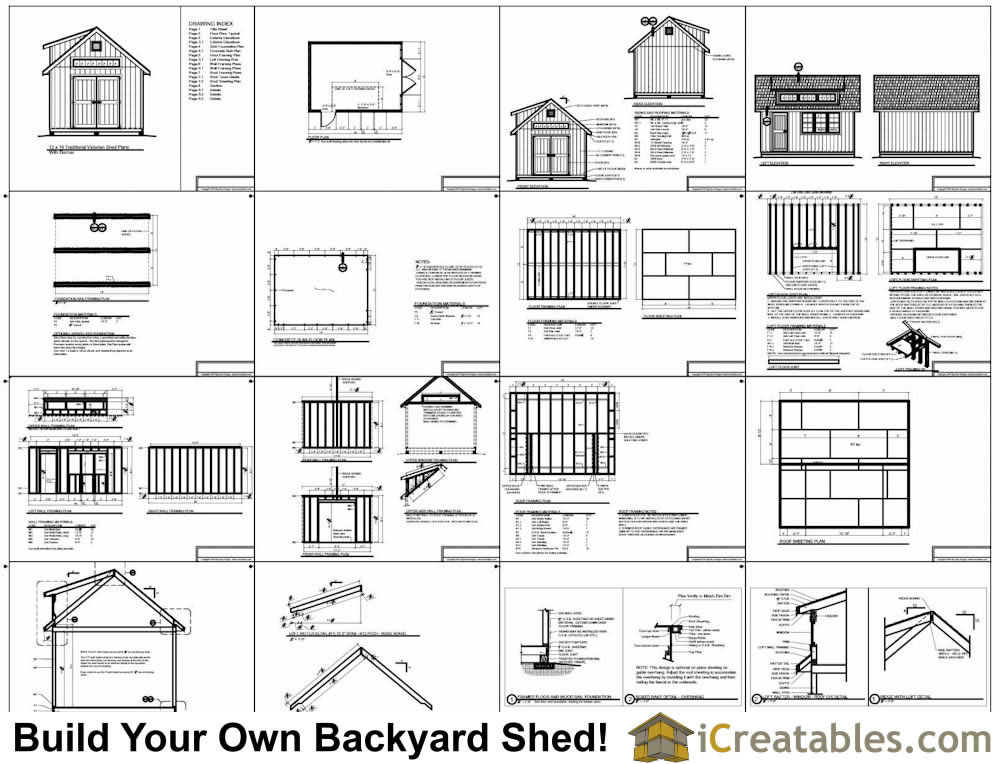 12x20 storage Shed with dormer Plans with dormer