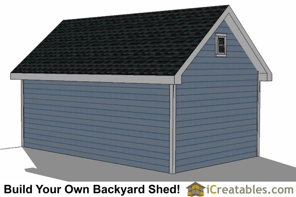 12x20 shed with dormer roof plans right rear