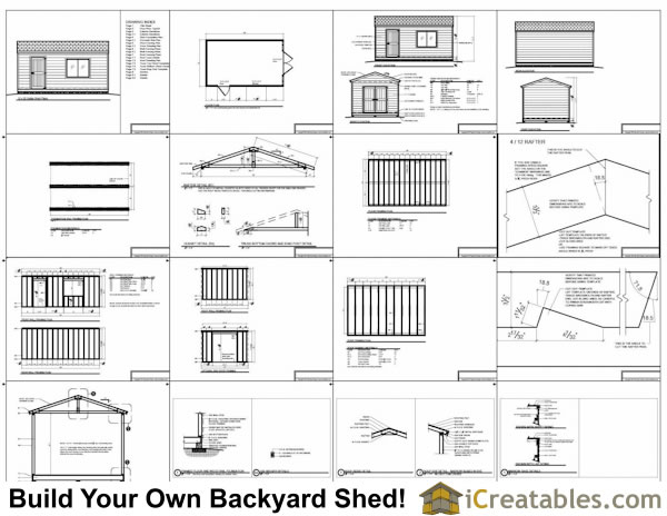 12x20 backyard storage shed plans