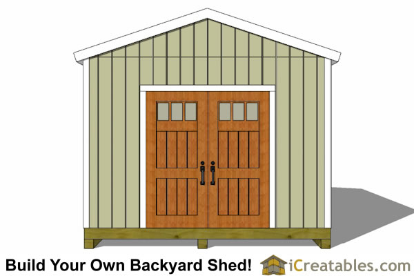 12x20 Backyard Shed plans end view