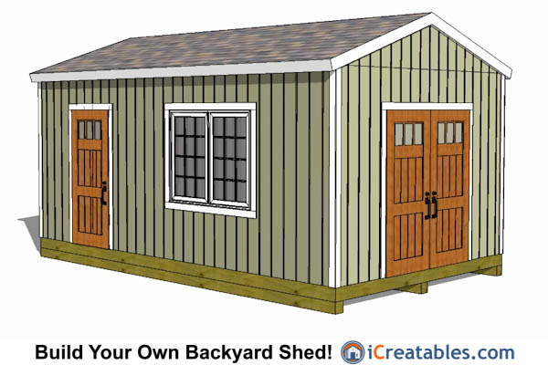 12x20 gable shed plans