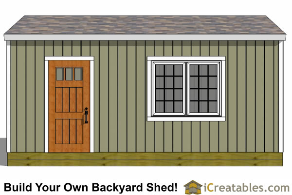 12x20 gable backyard shed left elevation