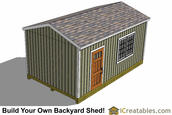 12x20 backyard shed plans top elevation
