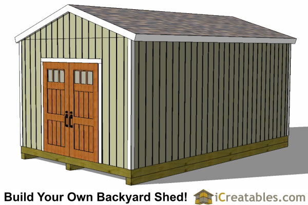 12x20 backyard shed right elevation