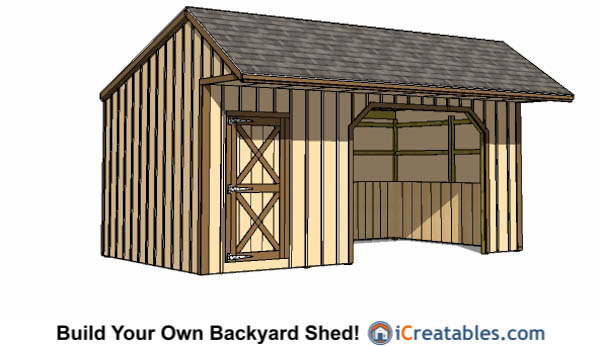 12x22 Run In Shed With Tack Room