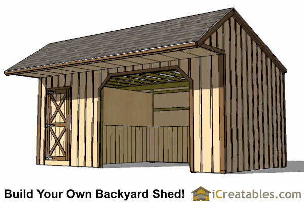 12x22 run in shed plans with tack room for Tack shed plans