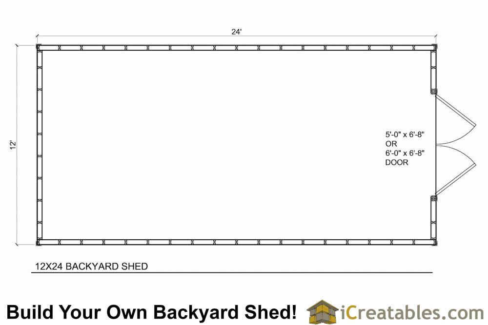 12x24 Backyard Large Shed Plans