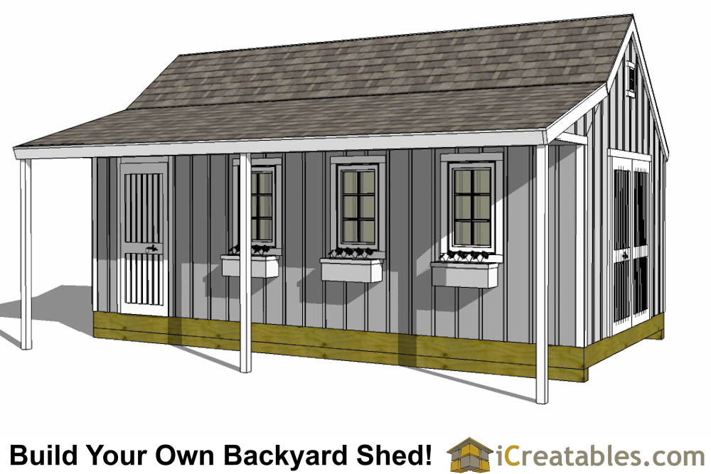 12x24 Cape Cod Shed With Porch Plans Icreatables