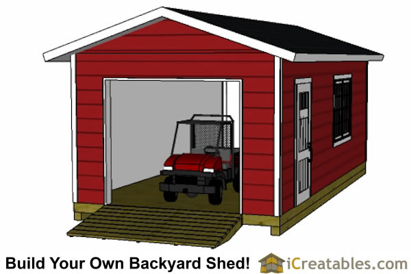 12x24 garage shed plans for 12x14 garage door
