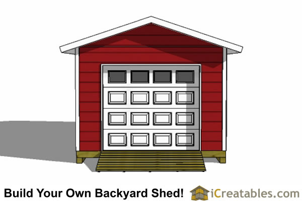 12x24 shed plans with garage door overhead door elevation