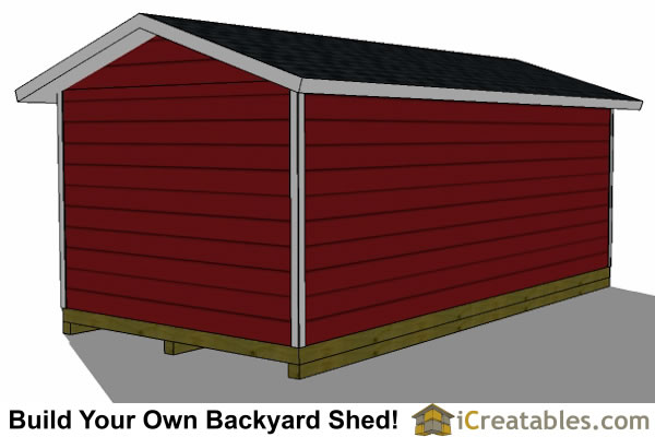 12x24 garage plans left rear
