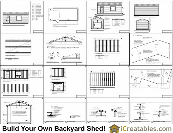 Cene storage shed plans 12x24 for Garage door plans free