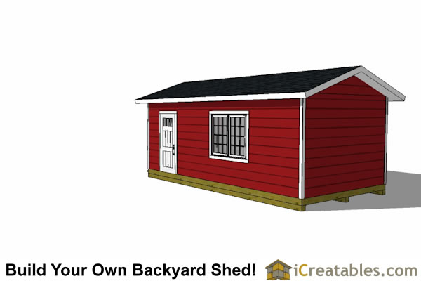 12x24 shed plans with garage door right elevation