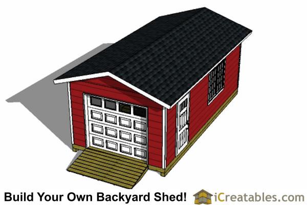 12x24 garage shed plans