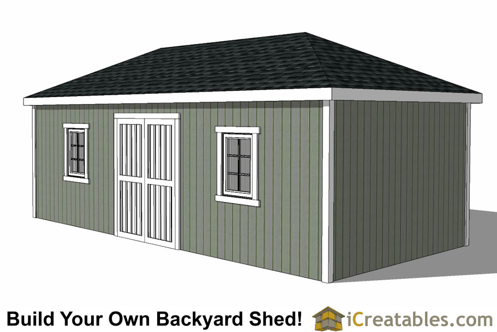 12x24 hip roof shed plans for Double hip roof design