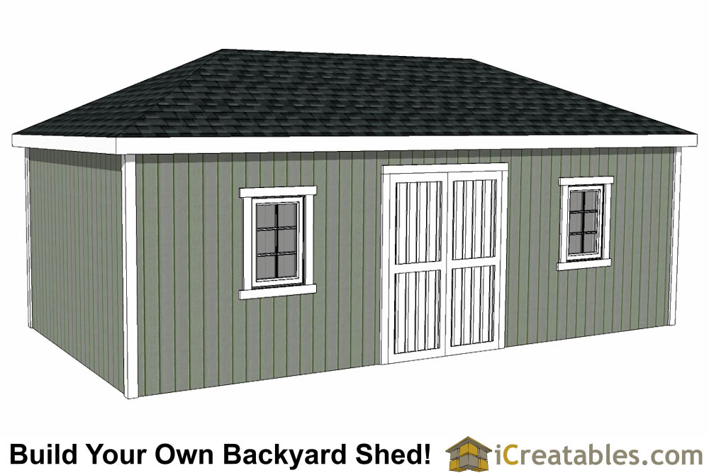 12x24 Shed Plans - Easy To Build Shed Plans and Designs