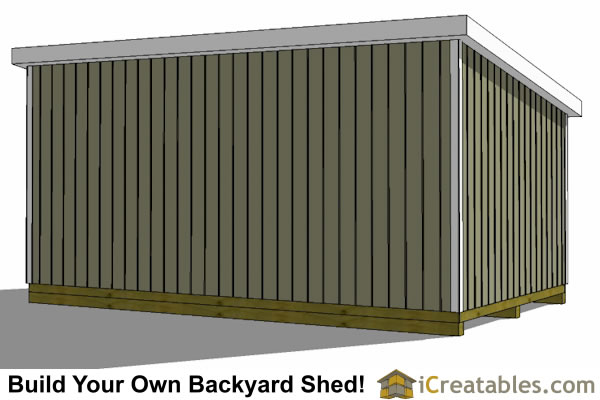 how to build a storage shed on skids