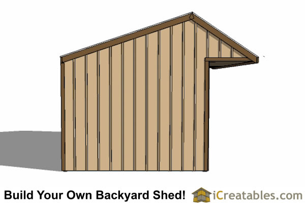 12x24 run in shed end