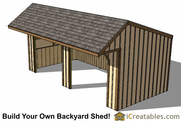 Horse run in shed plans design leo ganu Horse run in shed plans design