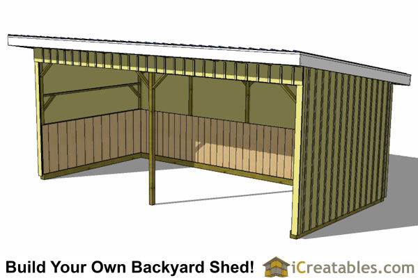 12x24 horse run in shed