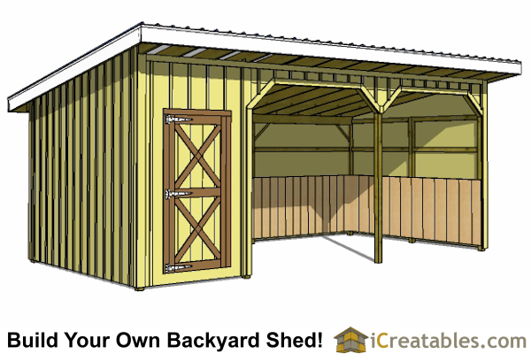 Run in shed plans building your own horse barn icreatables for Tack shed plans