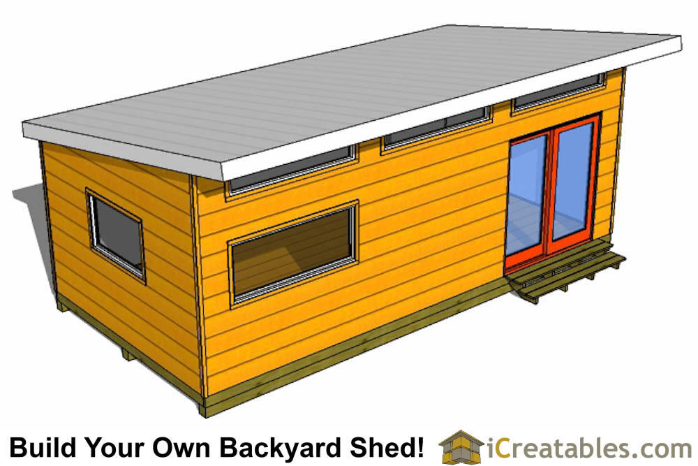 12x20 modern office shed
