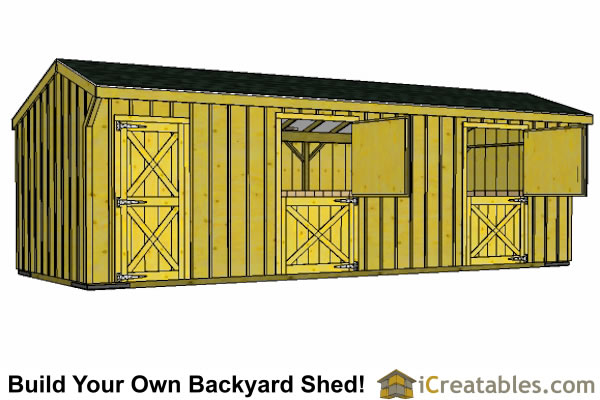 2 Stall Horse Barn And Tack Room Plans