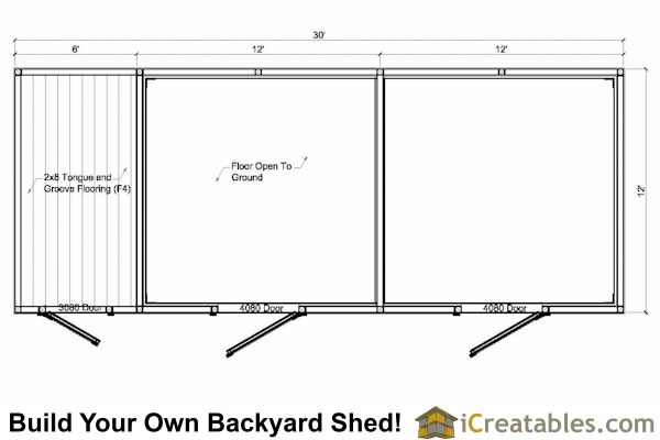 2 stall horse barn and tack room plans for Horse stall floor plans