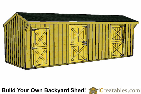 10x40 4 stall horse barn plans